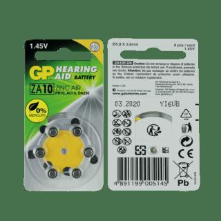 Pilas para audifonos Gp batteries 10