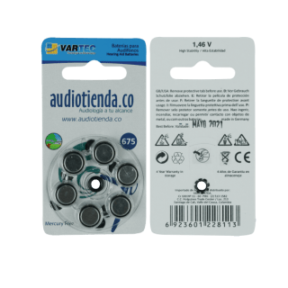 Pilas para audifonos vartec audiotienda 675