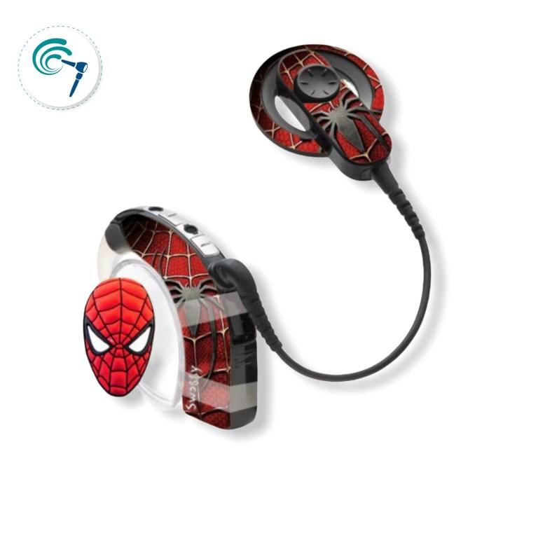 Sticker Procesador Hombre Araña Implante coclear