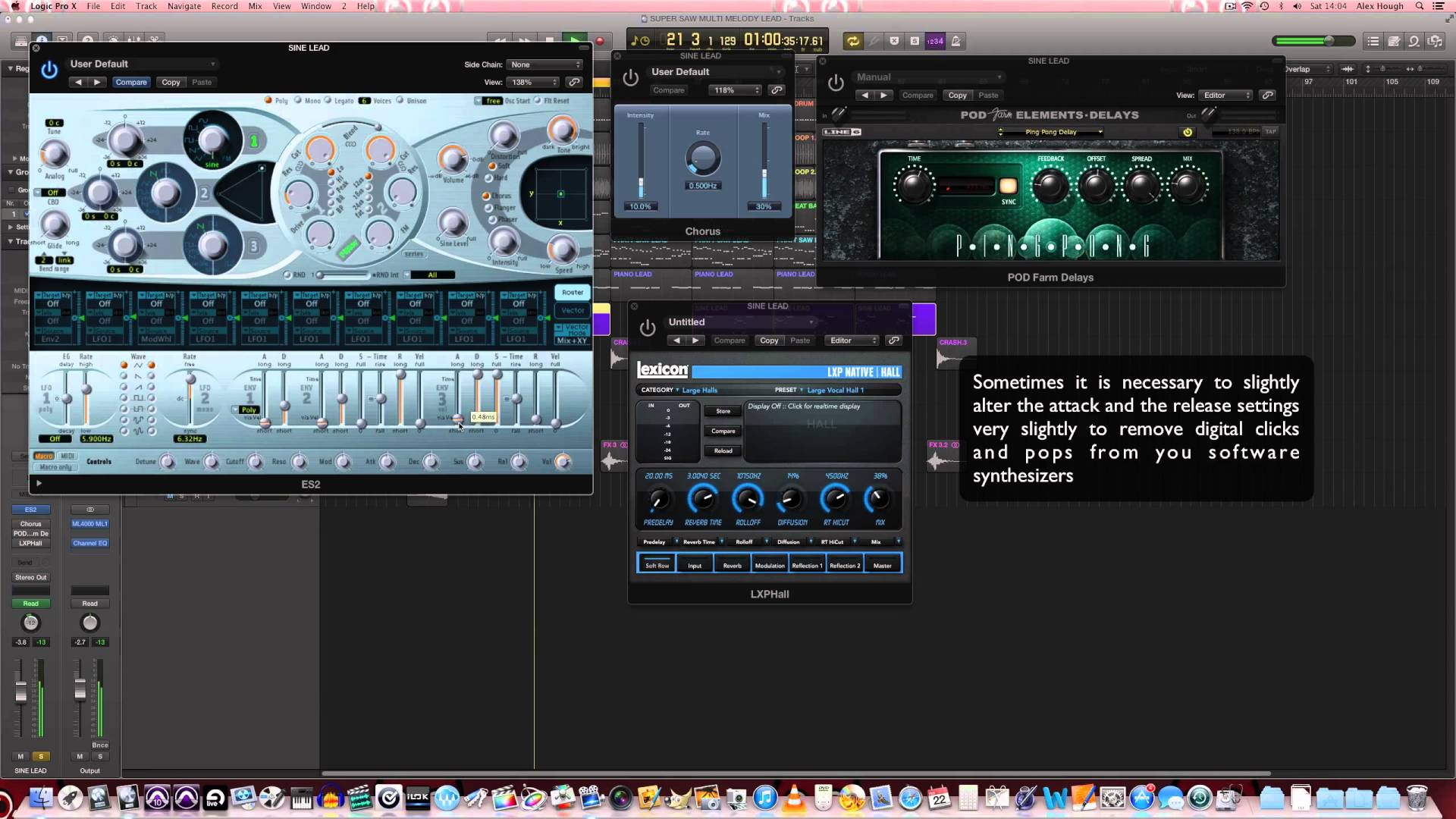 How to make a supersaw multi-melody trance lead in Logic Pro