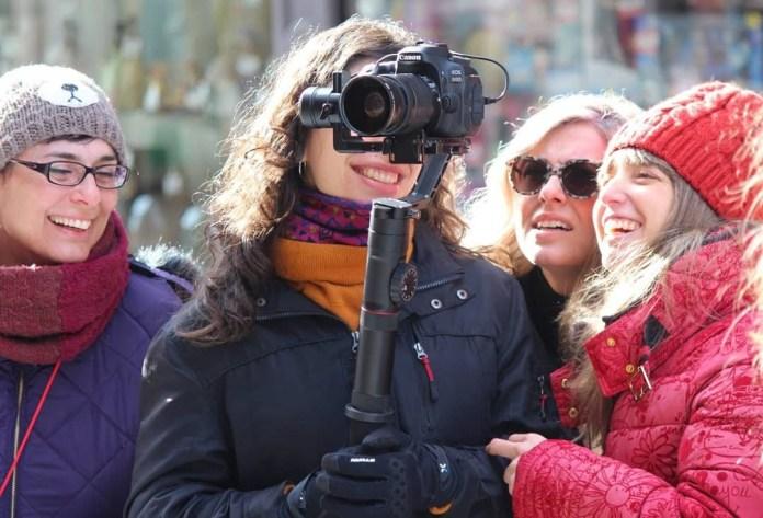 Mayra Teixidó, Mariola Olcina, Cristina Urgel y Ainhoa Menéndez, residentes de la primera edición de Coofilm. Foto: Isidro Jiménez Gómez