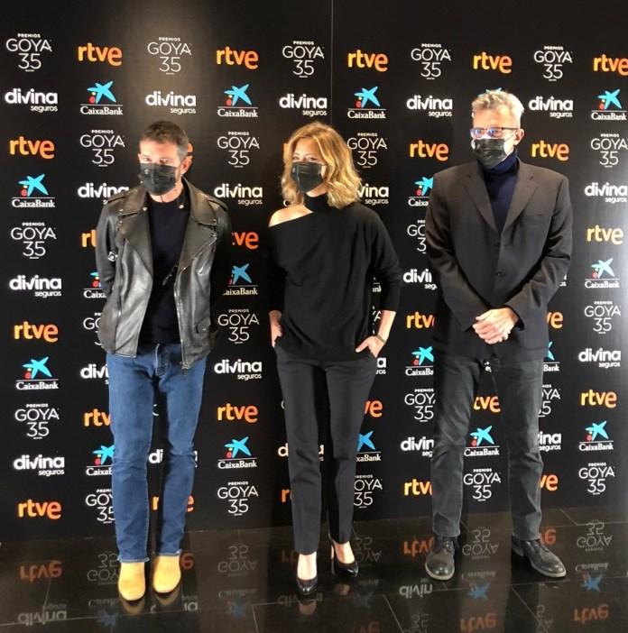 Antonio Banderas, María Casado y Mariano Barroso