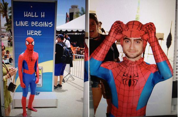 Daniel Radcliffe Spiderman Comic Con 2014