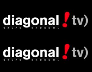 Diagonal TV logo
