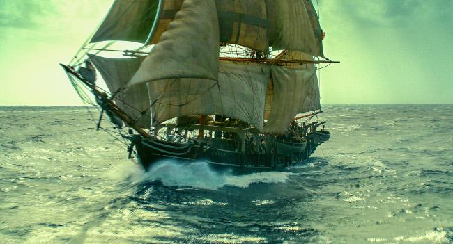 En el corazon del mar BARCO DE VELA