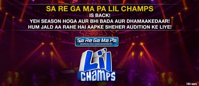 SA Re Ga Ma Pa Lil champs 2016-17 Audition and online registration