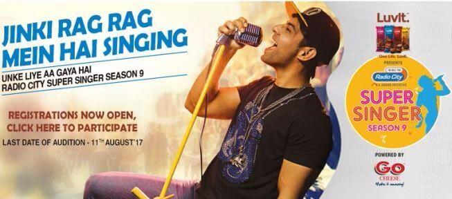 Radio City Super Singer 9 2017 Auditions Online & Registration