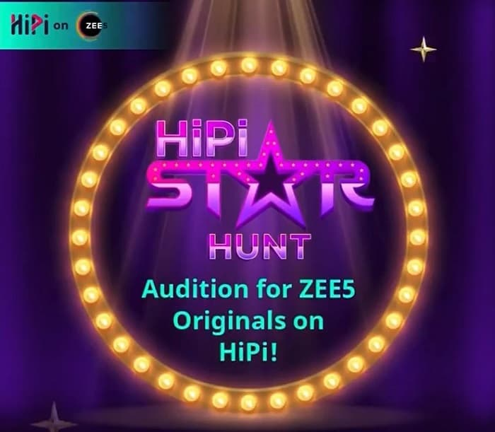 Zee5 HiPi Star HUNT How to do Registration for this Web Series show