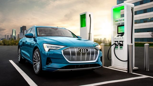 Image result for audi e-tron charging