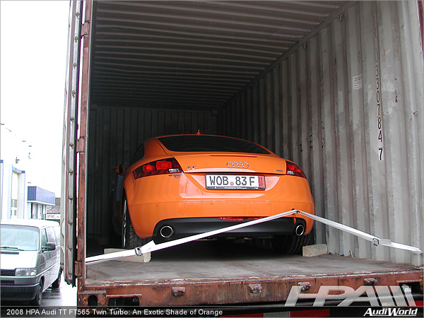 2008 HPA Audi TT FT565 Twin Turbo: An Exotic Shade of Orange