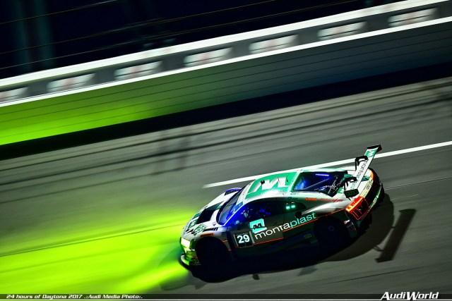 audiworld.com Audi R8 LMS Montaplast By Land Motorsport 24 Hours Daytona GTD Class Podium Finish