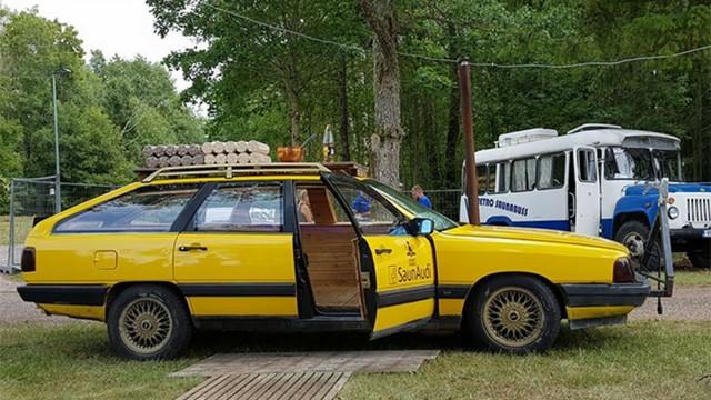 Audi Wagon is Turned into a Sauna on Wheels