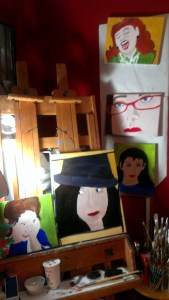 mess, canvases, paintings, studio