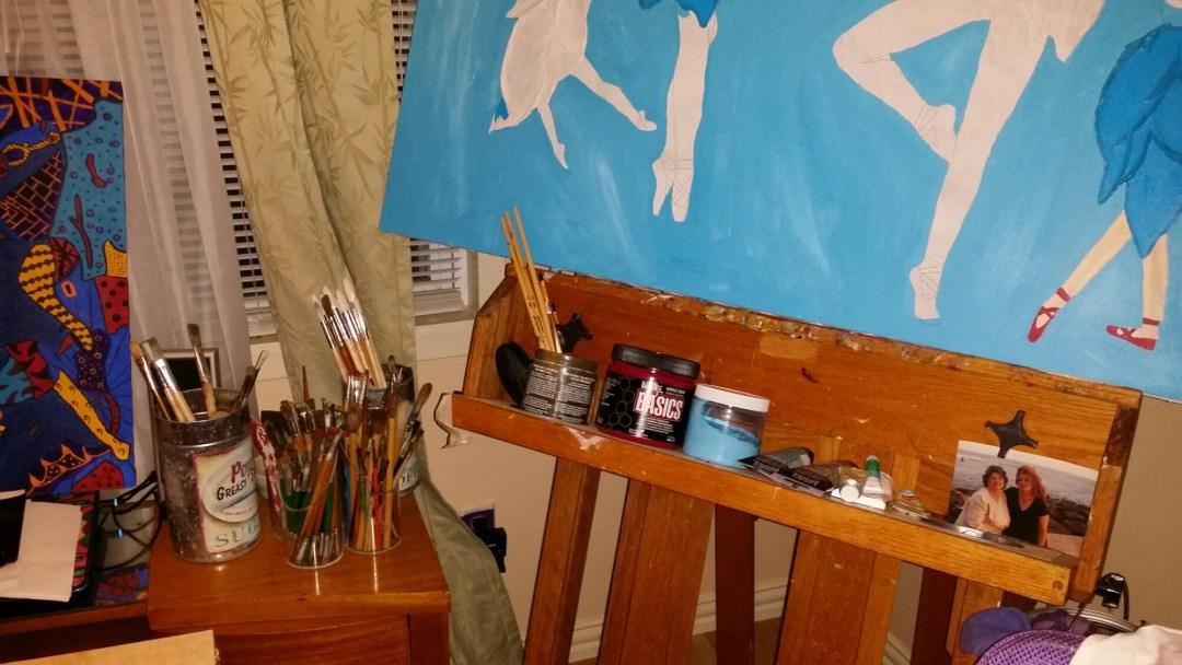 easel, studio, canvas