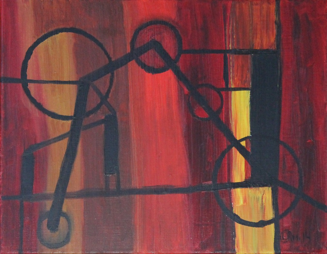 I Want to Ride, acrylic painting by Audra Arr