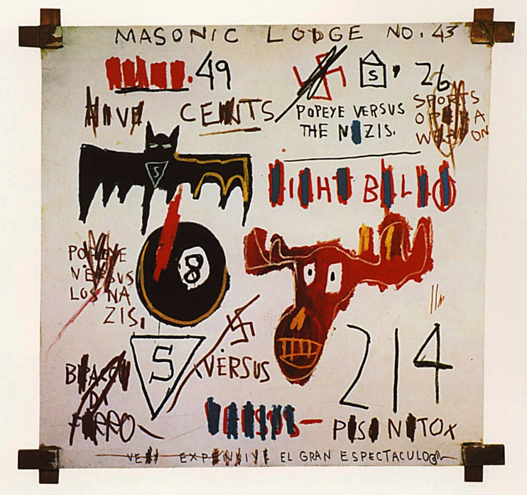 basquiat, painting, abstract, writing, text, comfort zone