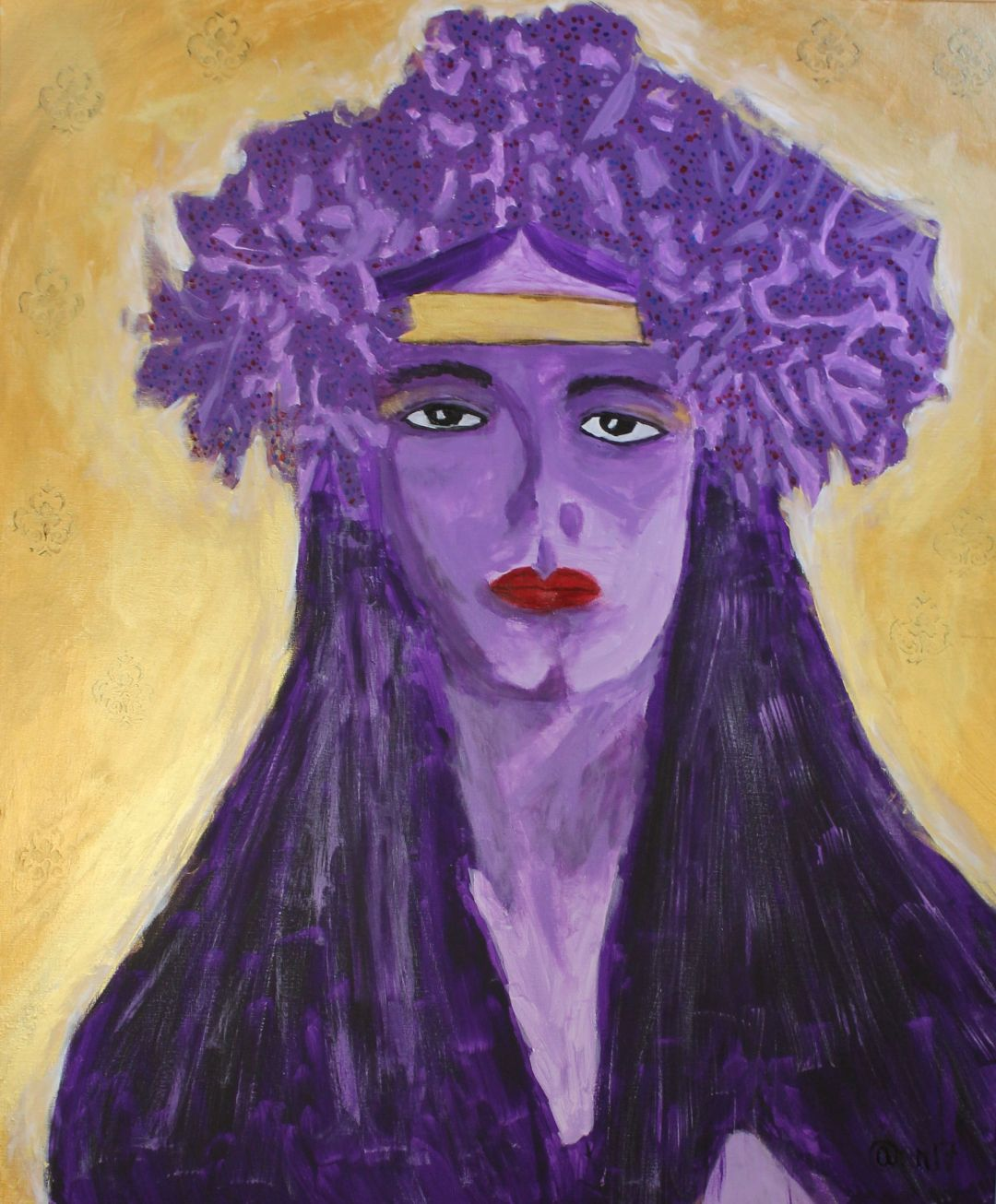Evelyn Crowned, acrylic painting by Audra Arr