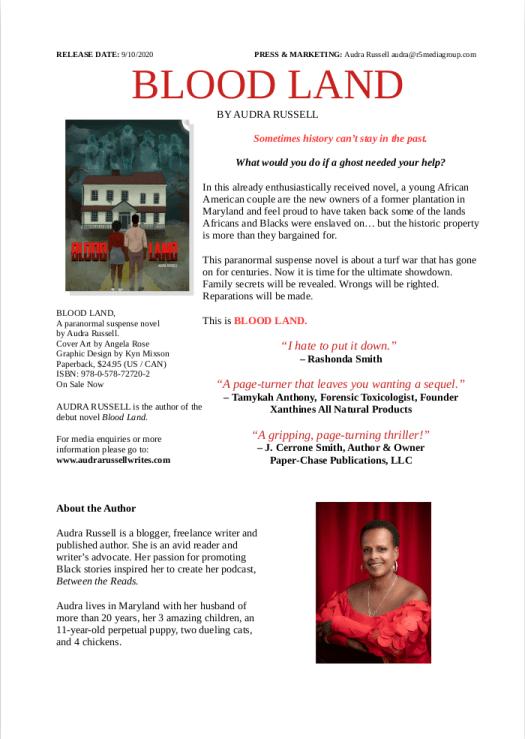 Blood Land Debut Novel Press Release