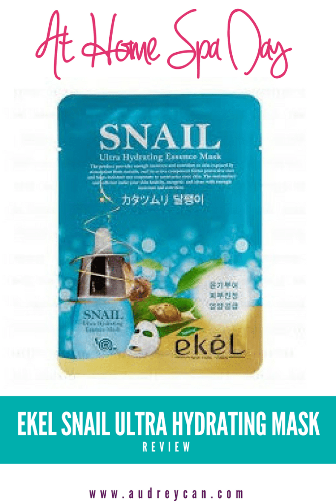At Home Spa Day: Ekel Snail Ultra Hydrating Mask Review