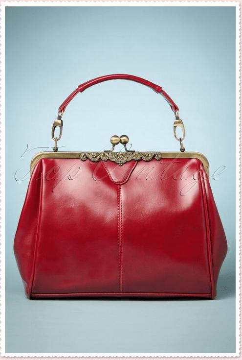 Audrey Hepburn Red Vintage Handbag