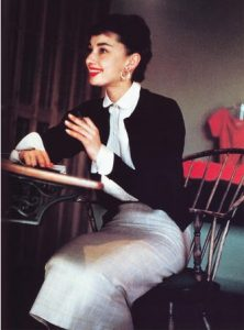 Audrey Hepburn shirt and pencil dress