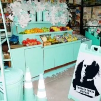 Tiffany Blue Painted Shop