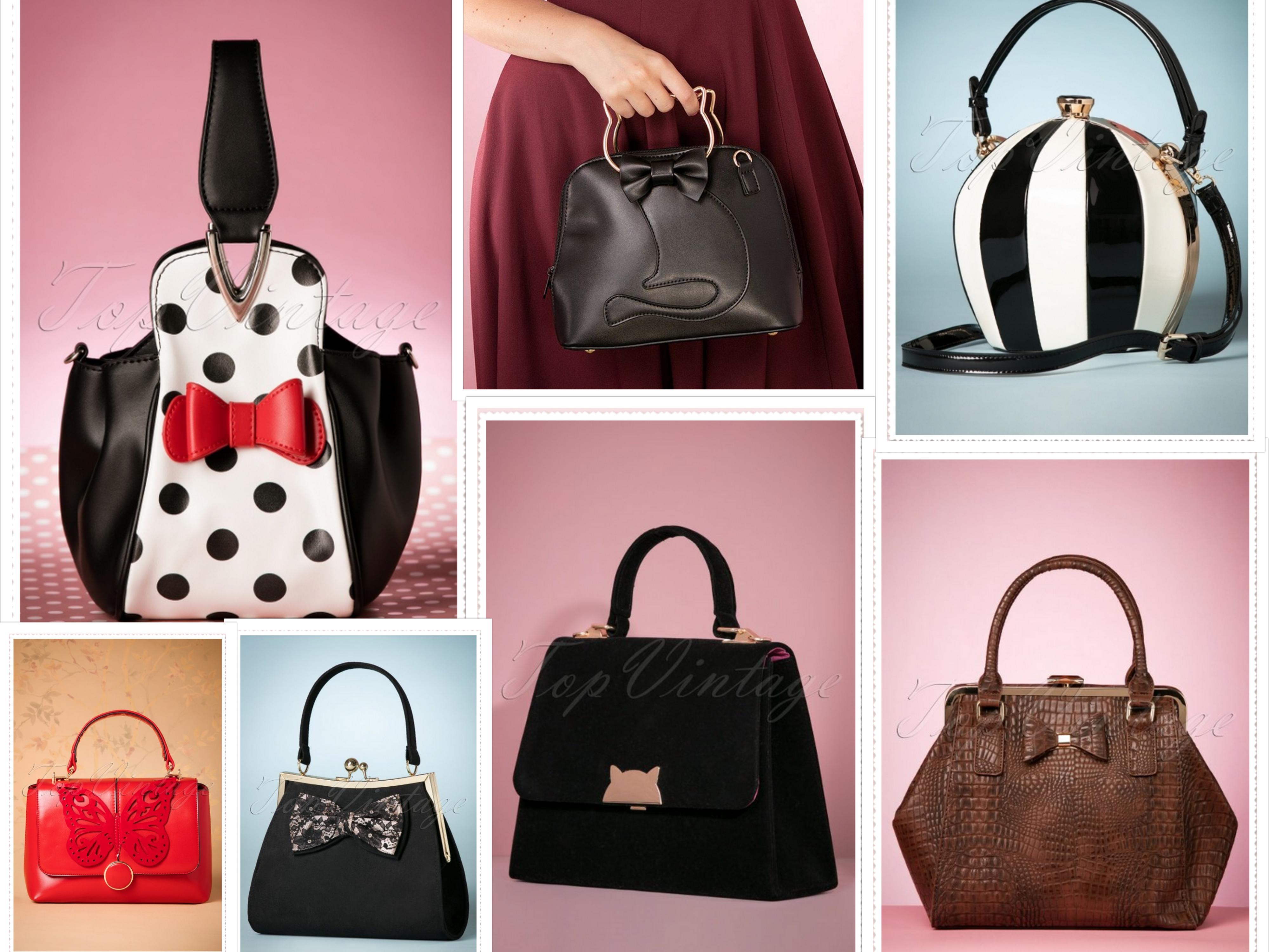 Retro Bags Red Black Cat