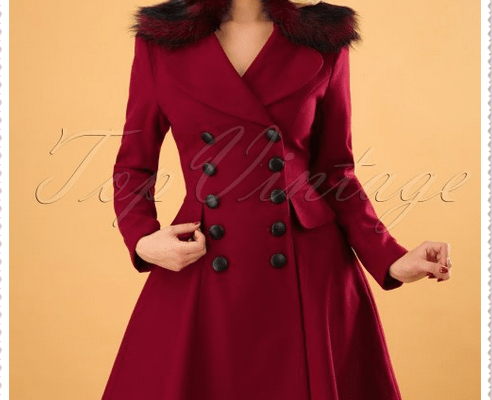 Red coat woman