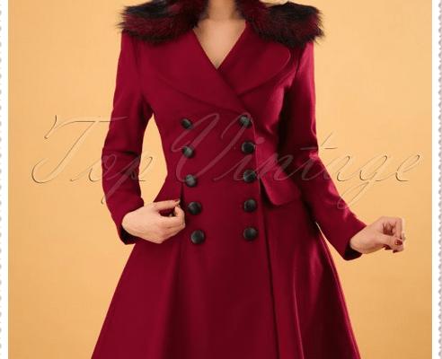 Red coat woman