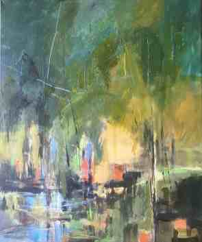 Green Landscape by Audrey imber