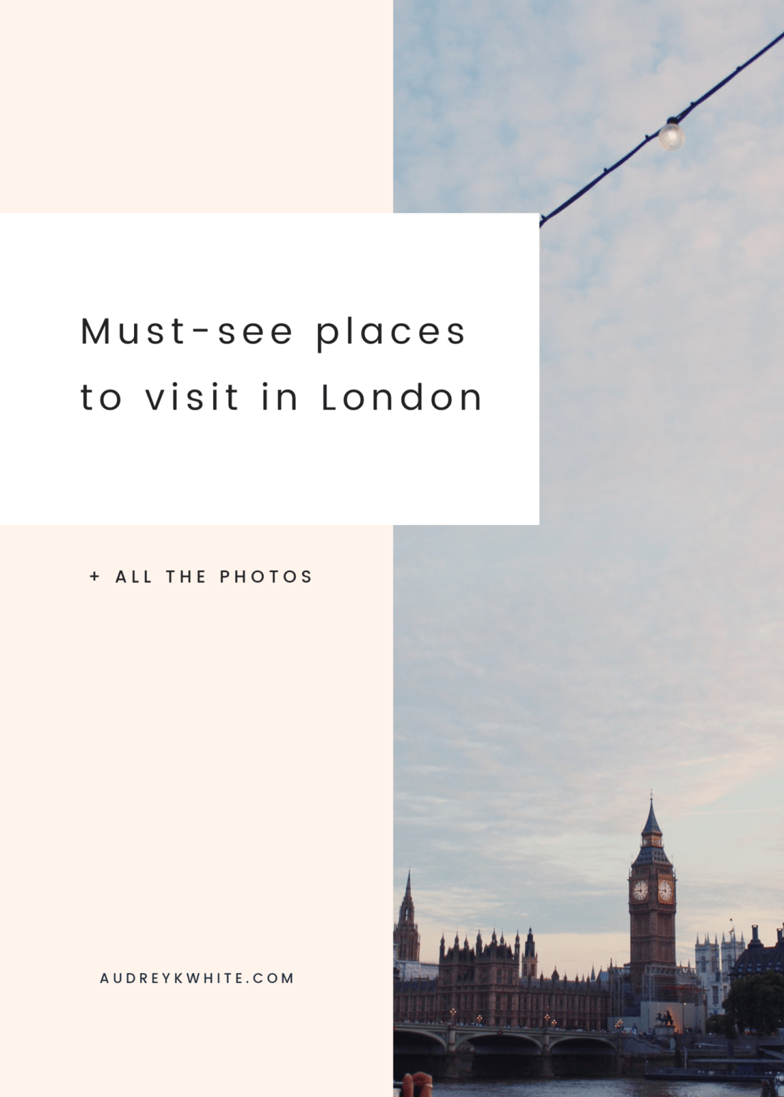 Things to do in London on a budget // must-see places in London #travelblog #london #travelguide #londontrip #londoneye #bigben