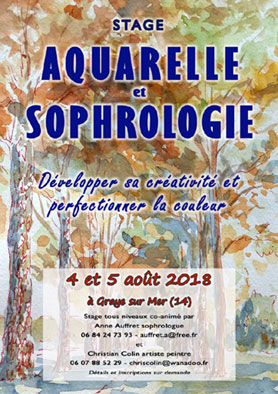 stages de sophrologie - developpement personnel - aquarelle