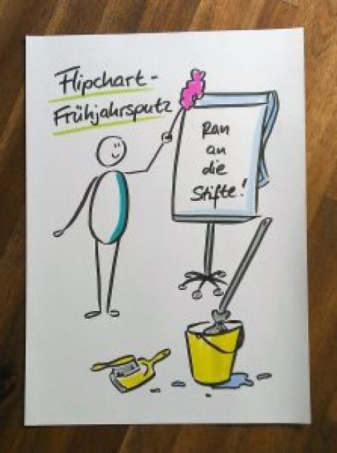 Flipchart, Flipchart-Präsentation, Flipchartbild, Flipchartgestaltung, Flipchart-Frühjahrsputz