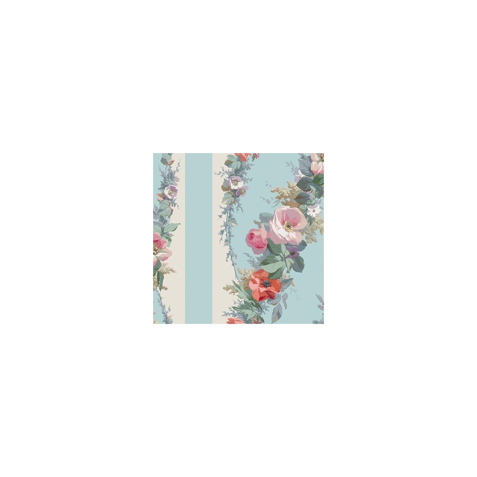 papier peint classic rose stripe fleurs delicates