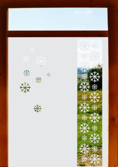 Glastur Aufkleber Aus Hochwertiger Wasserfester Glasdekorfolie