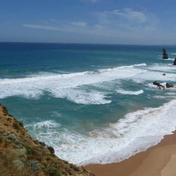 Australien-GreatOceanRoad-TwelveApostles-Strand