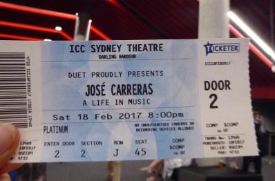 Australien-Musik-Carreras-Karte