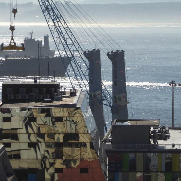 Chile-Valparaiso-Hafenblick
