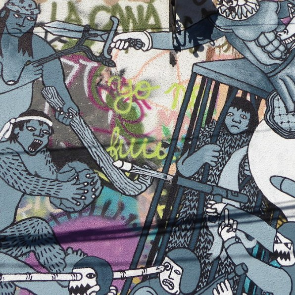 Chile-Valparaiso-Streetart-Kampf