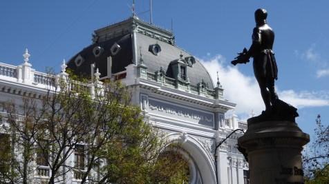 Bolivien-Sucre-Statue