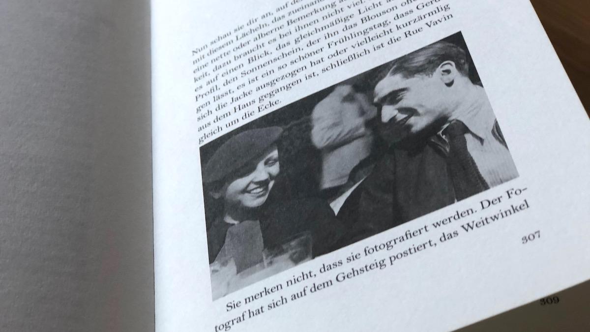 Blick ins Buch und Foto von Gerda Taro