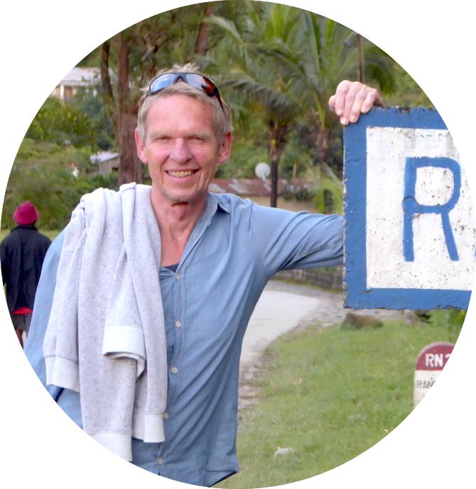 Wolfgang Eckart auf Madagaskar während seiner Weltreise