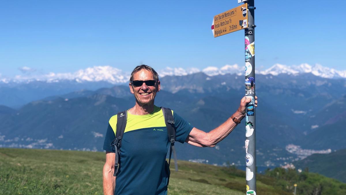 Wolfgang Eckart auf dem Monte Lema im Tessin