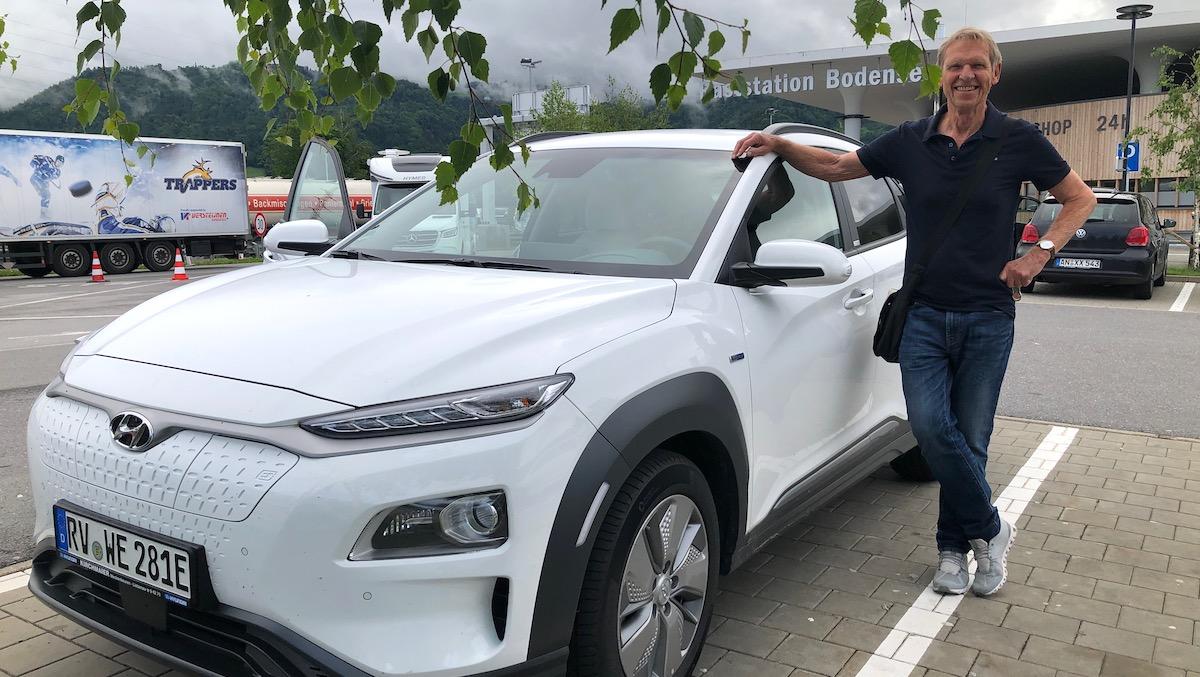 Wolfgang Eckart und sein Elektroauto