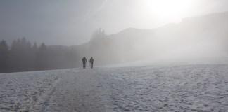 Nebel und Schnee