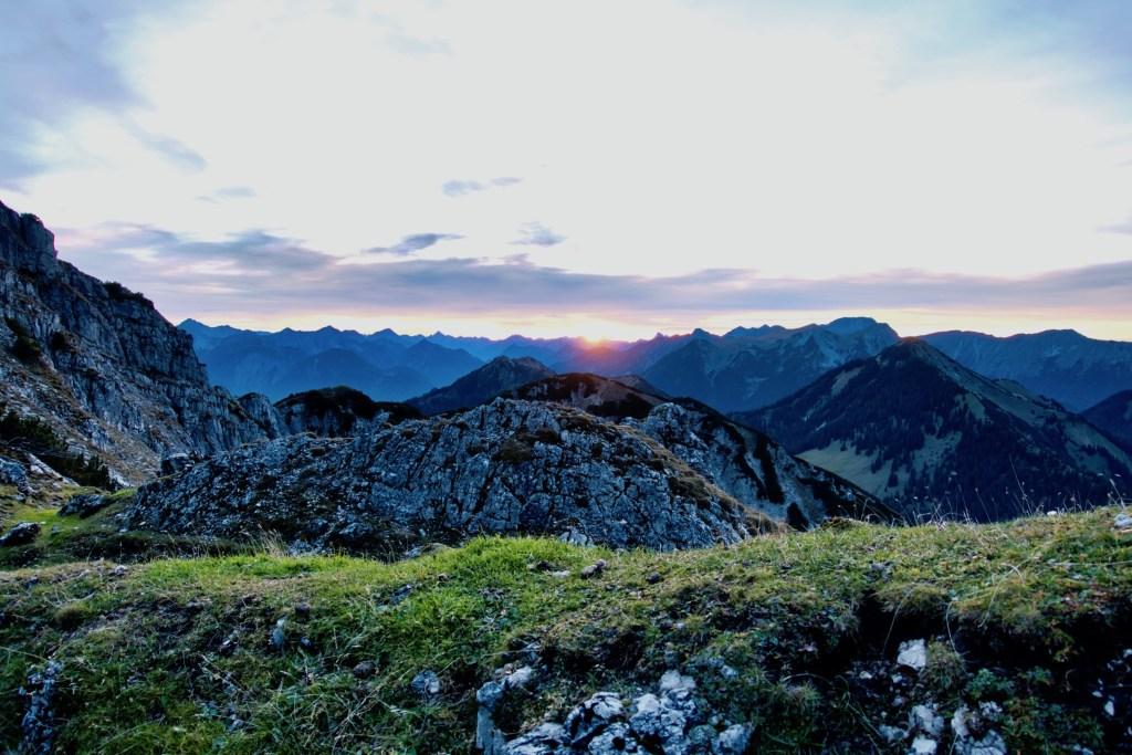 Sonnenuntergang am Kramerspitz