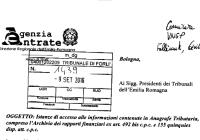 nota agenzia entrate accesso anagrafe tributaria