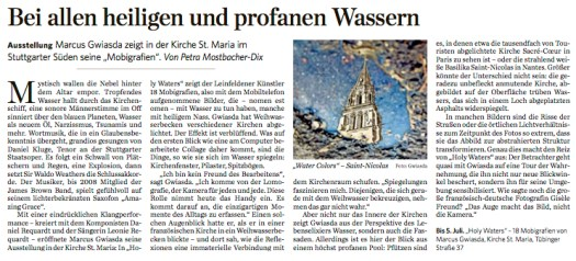 Holy Waters Stuttgarter Zeitung Stuttgarter Nachrichten