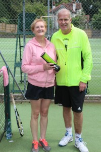 Nicky Taylor and Kenny Wright Mixed Doubles Finalists