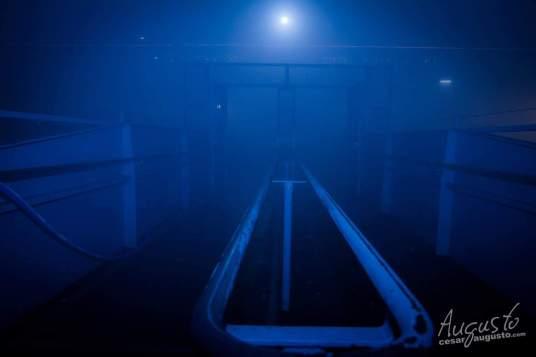 Nach dem Auftritt hat uns eine Nebelschicht umgeben, die uns lediglich eine Sichtweite von 5 m bot…